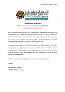 ANNOUNCEMENT CMCO FOR ALL STUDENT