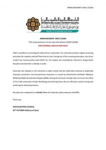 ANNOUNCEMENT CMCO FOR ALL STUDENTS